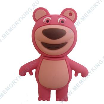 """флешка  DinoD """"Мишка"""" розовый"""