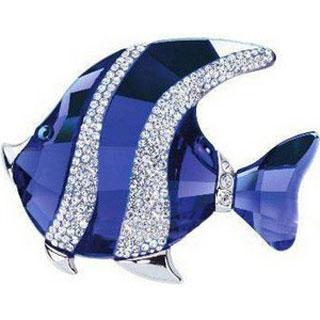 флешка MemoryKing Рыбка синяя со стразами