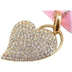 флешка Apexto Сердце подвеска (золотистое, серебристое)