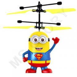 Летающий миньон Супер Мен (с датчиком, качественный, зарядка от USB шнур в комплекте)