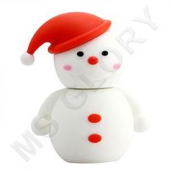 флешка Снеговик в красном колпаке